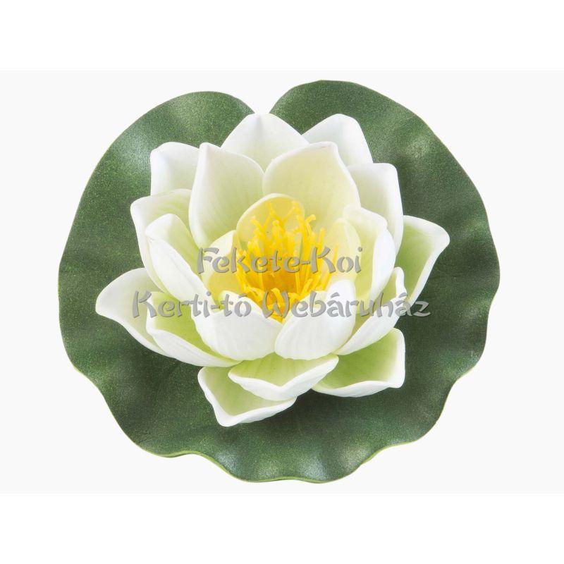 Lótus virág fehér színű úszó 10 cm (123581)
