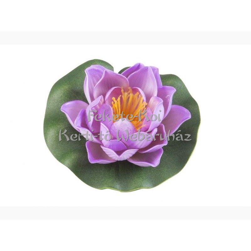 Lótus virág pink színű úszó 10 cm (123583)