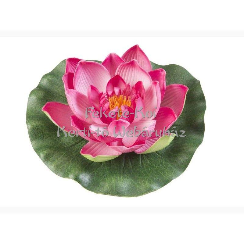 Lótus virág fuchsia színű úszó 17 cm (123587)