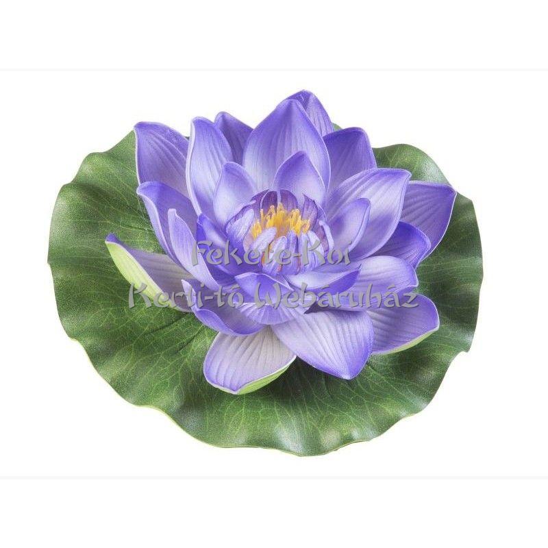 Tavirózsa  virág lila színű úszó 17 cm (123589)
