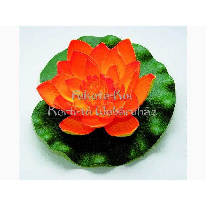 Lótus virág narancs színű úszó 20 cm (123671)