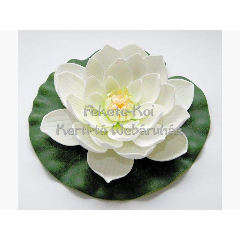Lótus virág fehér színű úszó 20 cm (123667)