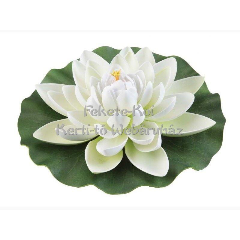 Tavirózsa  virág fehér színű úszó 28 cm (123590)