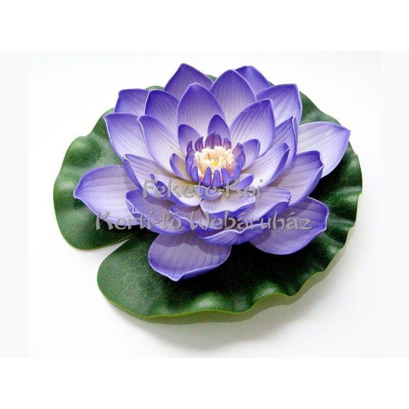 Lótus virág lila színű úszó 20 cm (123670)
