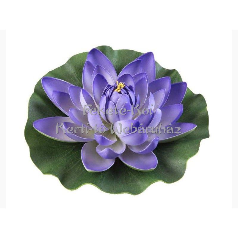Tavirózsa  virág lila színű úszó 28 cm (123593)