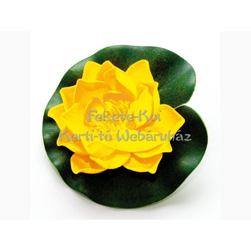 Lótus virág sárga színű úszó 10 cm (123633)