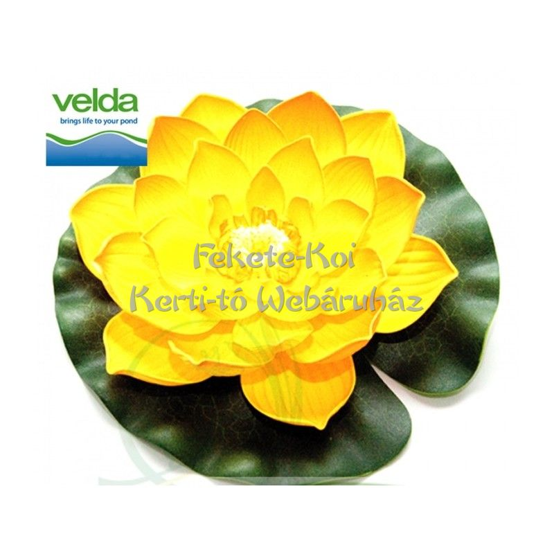 Lótus virág sárga színű úszó 28 cm (123674)