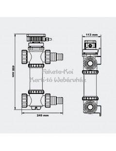 SunSun UV-C lámpa inox 18W (CUV-718)