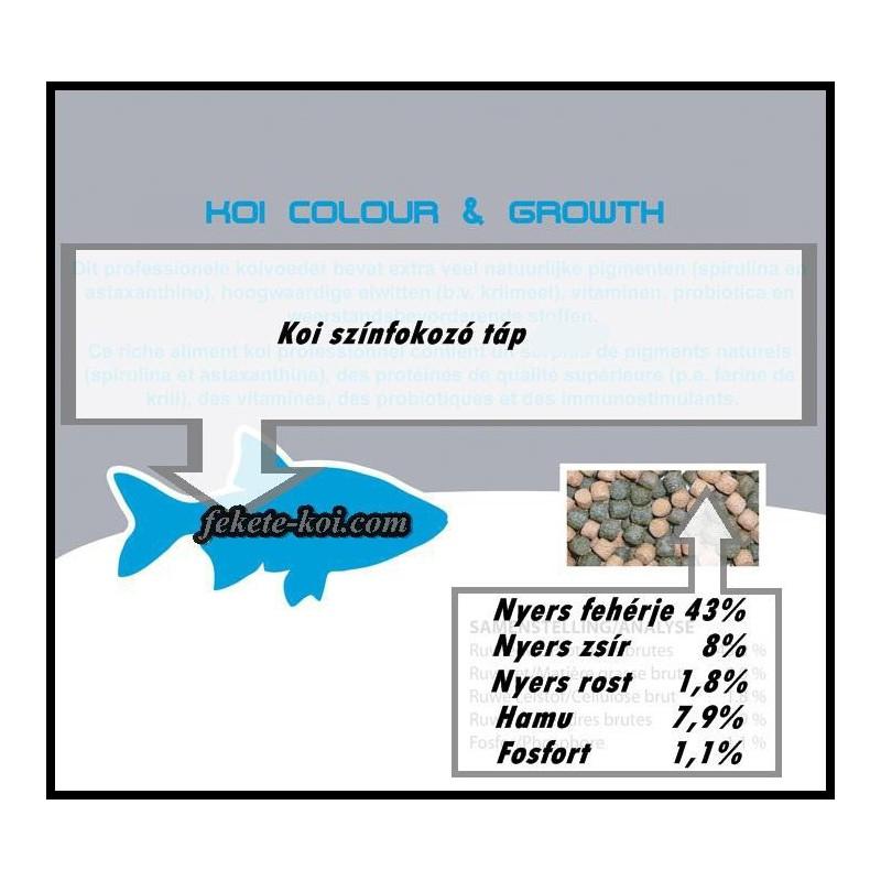 Szinfokozós koi haltáp 3 mm ( 8000 ml / 3400 g )