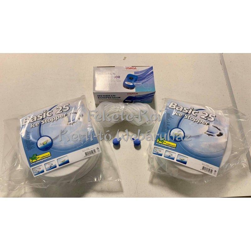 Téli befagyásgátló szett kerti tavakhoz (2db Basic 25/MK-9502/2db25mm/15m4/6 cső/1db Y elosztó))