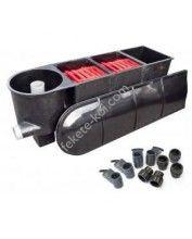 Fekete-koi 3kamrás+vortex tószűrő