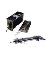 Három kamrás filter komplett 220L + Osaga UVC 36W