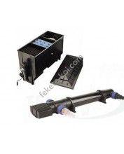 Három kamrás filter komplett 220L + Osaga UVC 55W