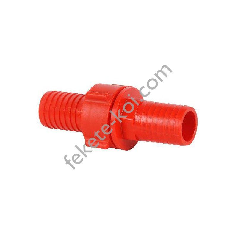 """Tömlőösszekötő  műanyag  5/4-5/4"""" piros"""