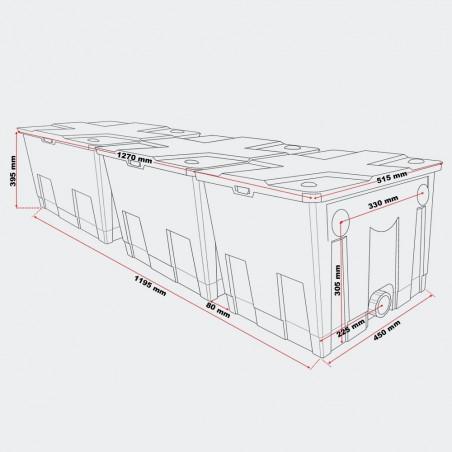 CBF- 16000 átfolyós szűrő
