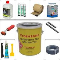 EPDM, PVC fólia ragasztók, kiegészítők, tóperem