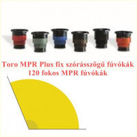 Toro 120 fokos MPR fúvókák